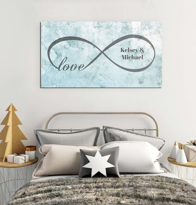 Personalized Infinite Love Canvas