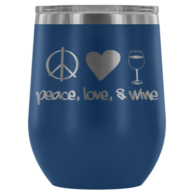 Peace Love & Wine Tumbler