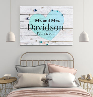 Personalized Mr. and Mrs. Canvas