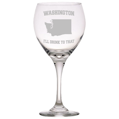 Washington, I'll Drink To That Red Wine Glass