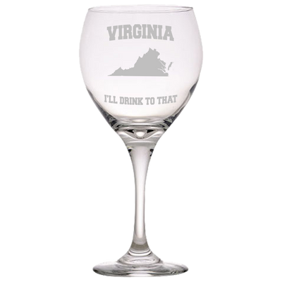 Virginia, I'll Drink To that Red Wine Glass