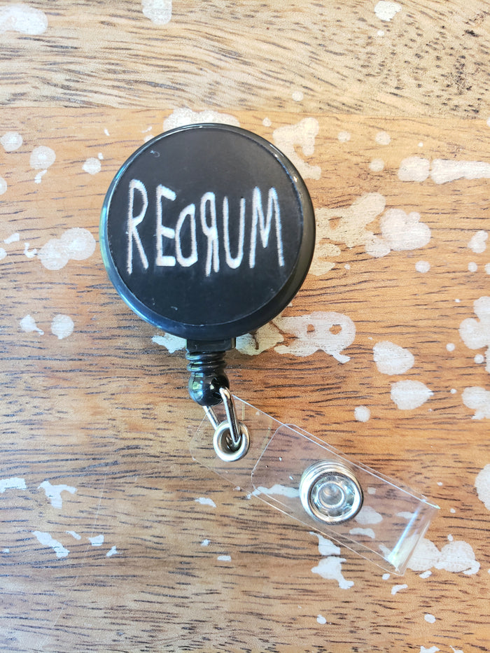 Black Redrum Badge Reel
