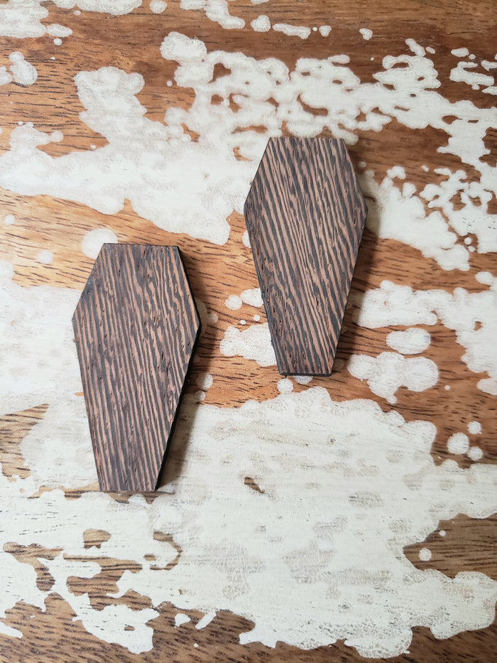Small Wooden Coffin Studs