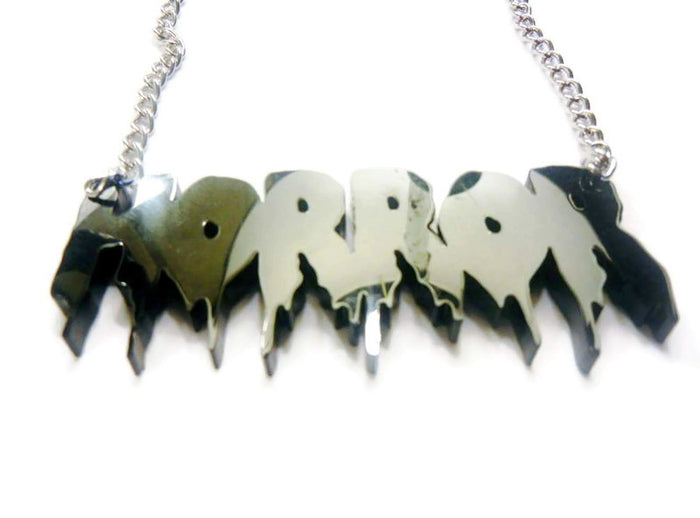 CUSTOM HORROR Font Word Necklace