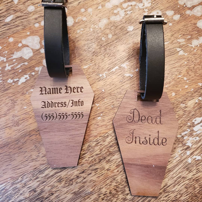 Personalized Coffin Luggage Tag
