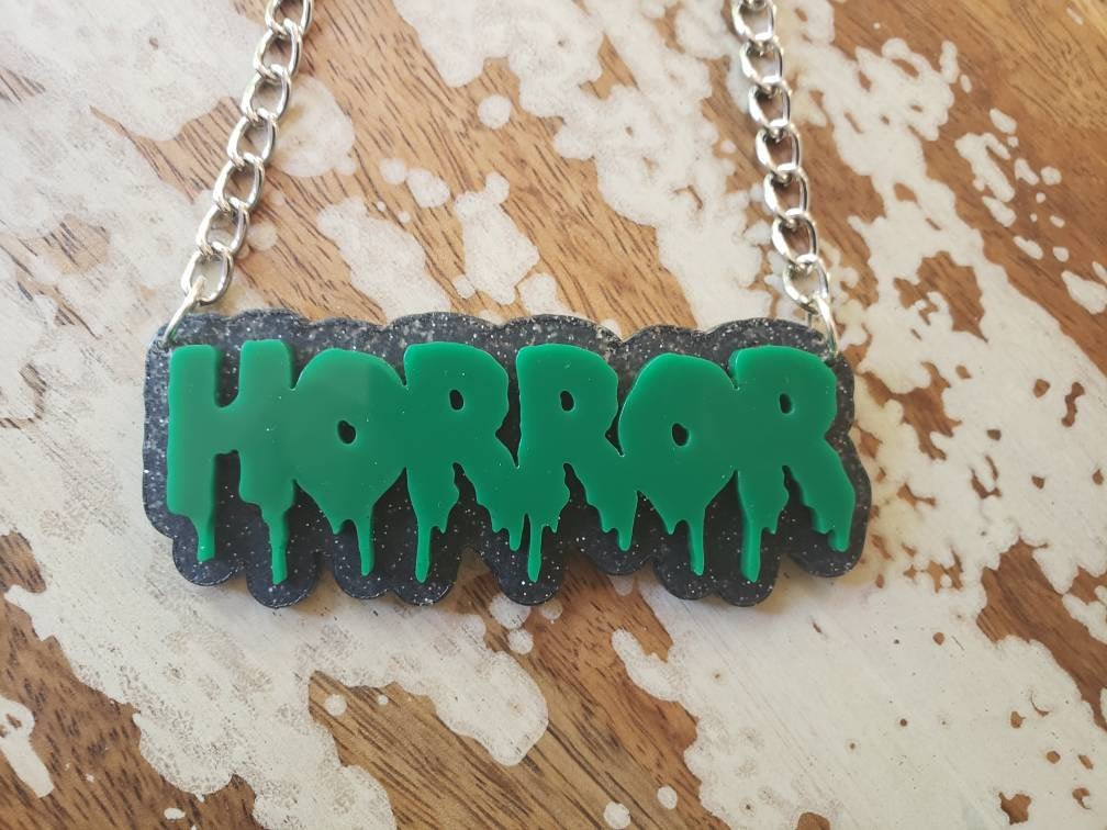 Custom 2-Color Drip Word Necklace