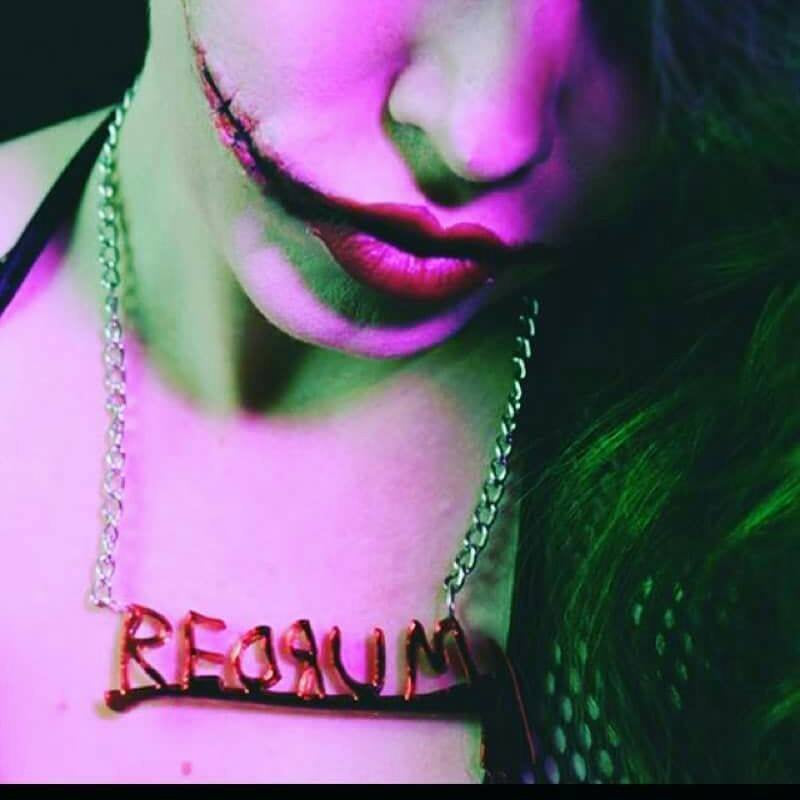Mirrored Redrum Necklace
