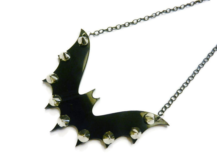 Spiked Bat Necklace