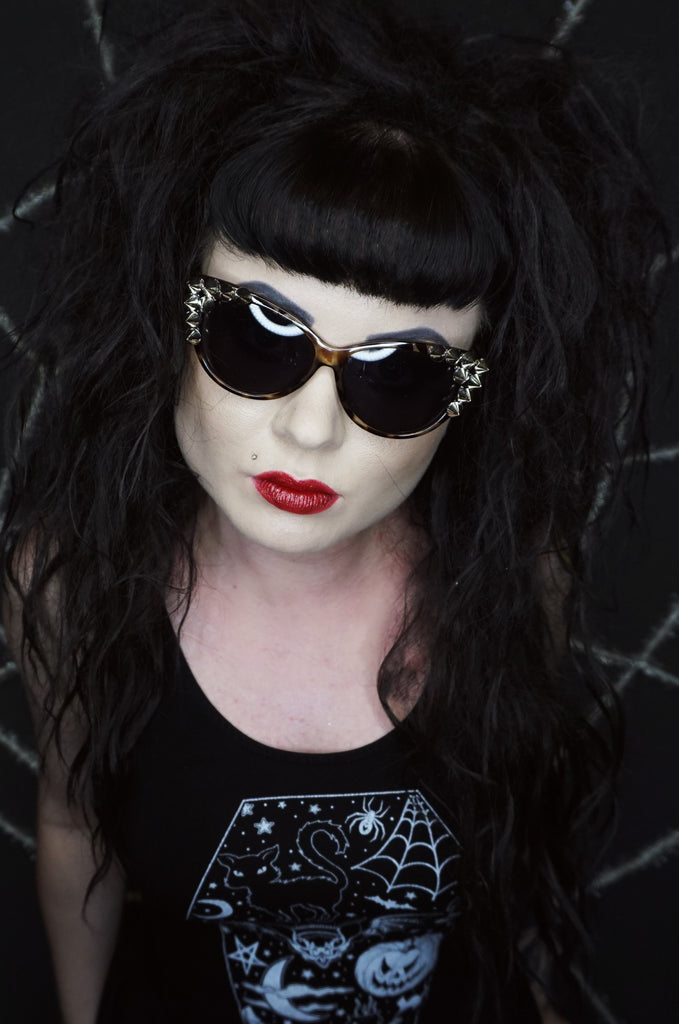 Spiked Cateye Sunglasses