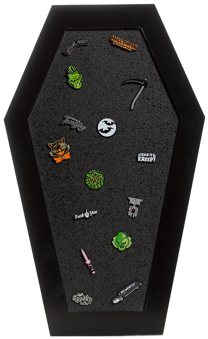 Coffin Cork Pin Board