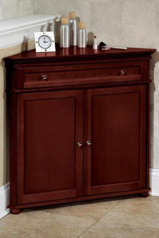 Superieur Hampton Bay 2 Door Corner Cabinet   Hazel Brown