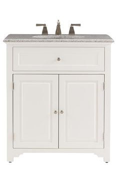 Model Home  Bathroom  30quot Halifax Vanity For Undermount Sink  Antique