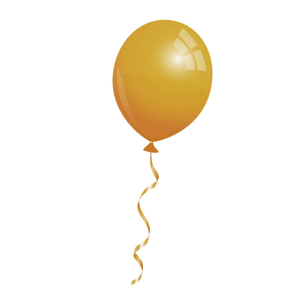 12 Luftballons in gold