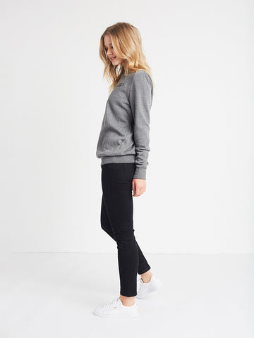 Initials Crewneck Fleece- Charcoal Grey