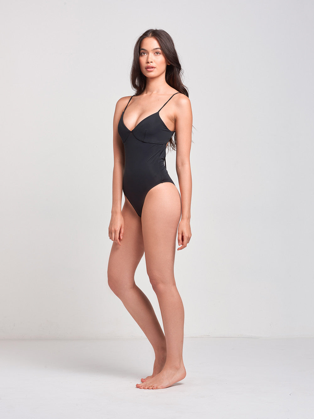 Bay-Bae Bralette One Piece- Black