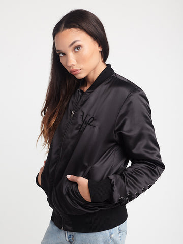 Y Plus R Bomber Jacket - Black