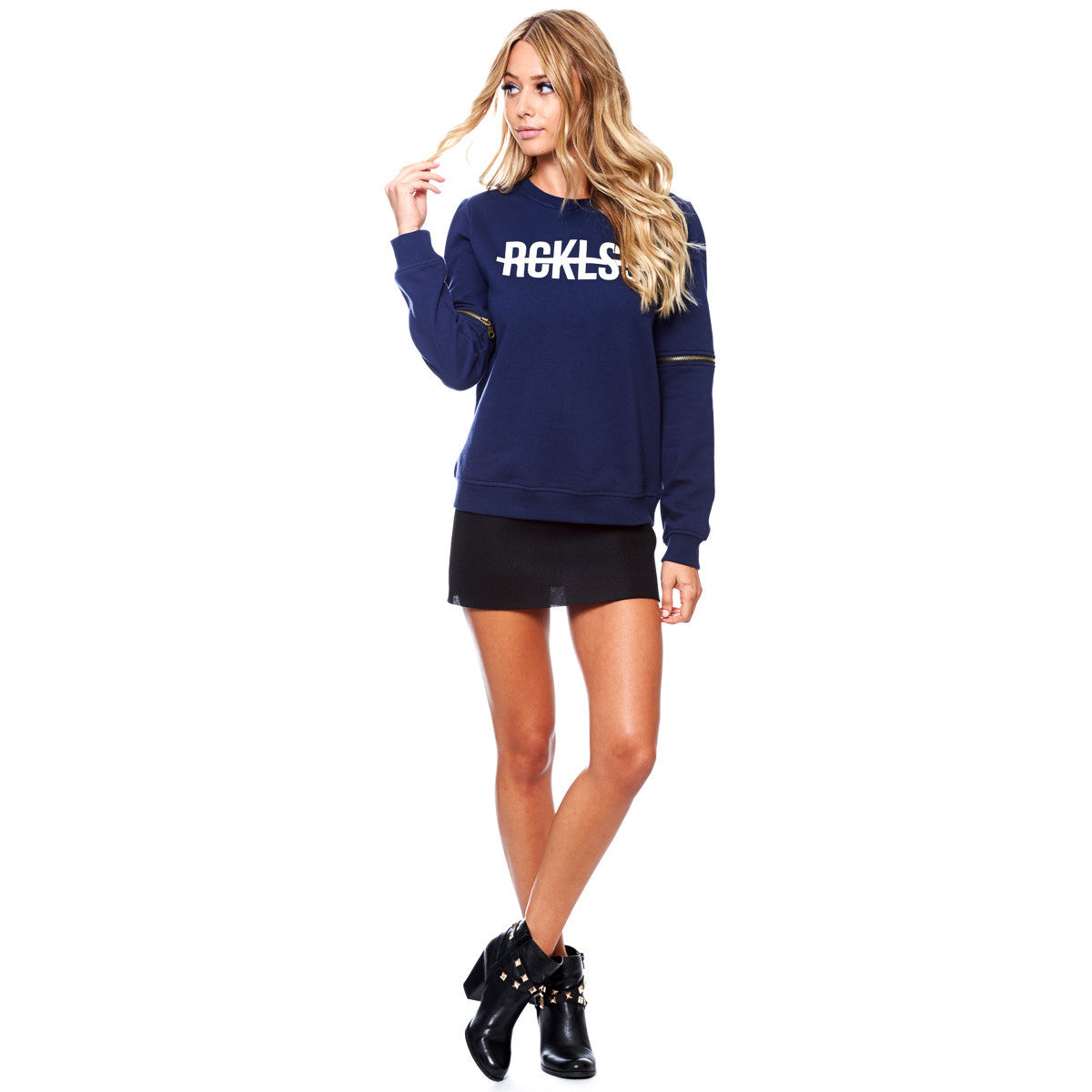 Come Thru, , Girls Crew Zippper Fleece, Young And Reckless, Young And Reckless - 2