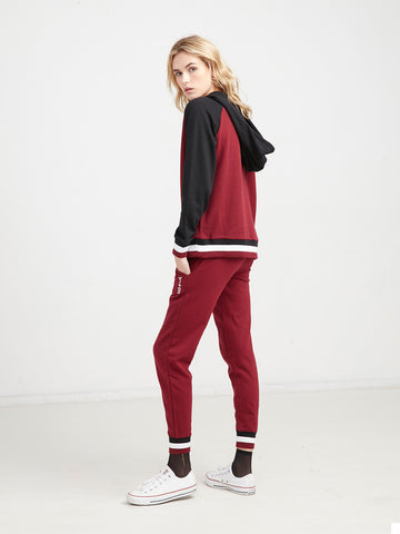 Varsity Stacked Zip Sweatshirt