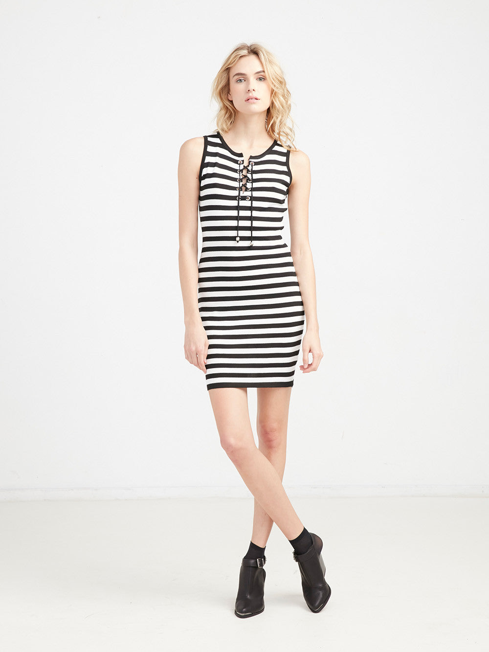 Holly Lace Up Dress