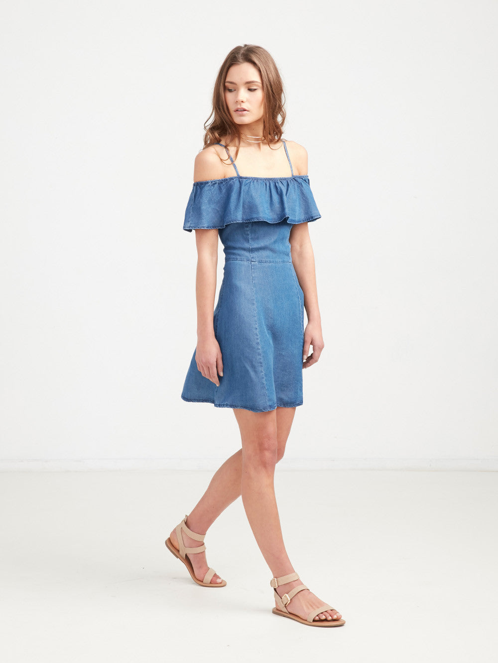 Ashley Flirty Denim Dress