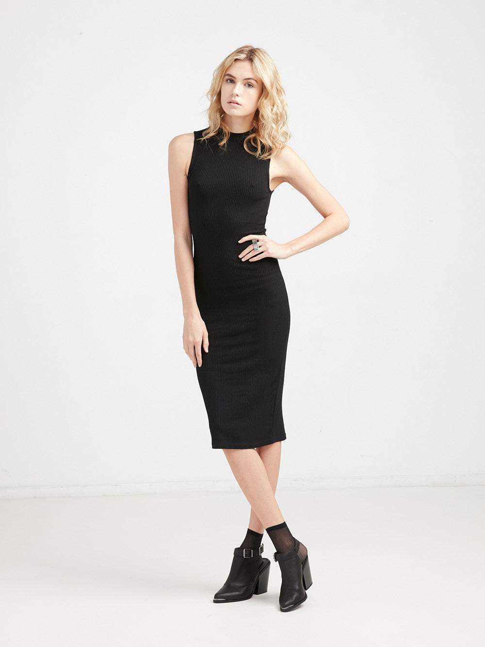 Phoebe Fitted Rib Tank Dress
