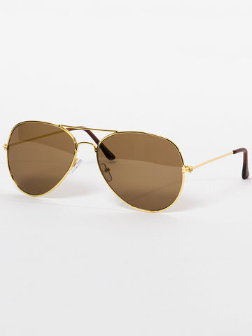 Rome Sunnies- Gold/Brown