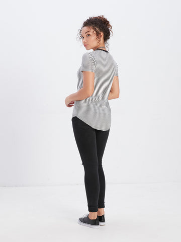Arr Dot Scoop Neck Tee