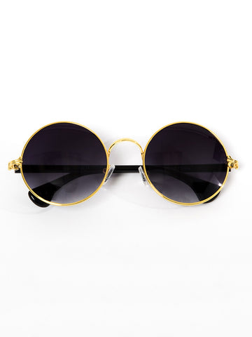 Santorini Sunnies- Black/Gold