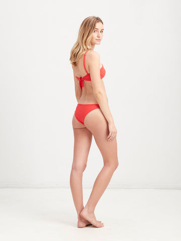 Veronique  - Skimpy Brief Bikini Bottom - Red