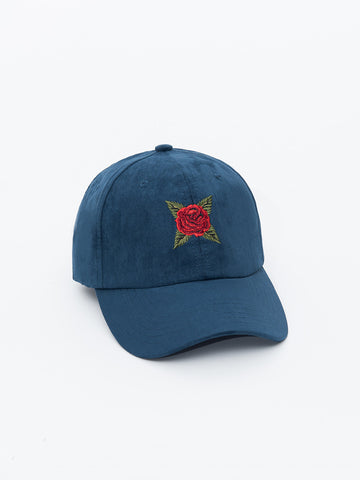 Concrete Rose Dad Hat- Navy