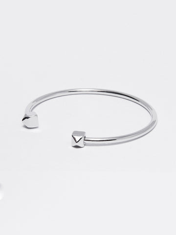 Silver Pyramid - Tipped Bangle