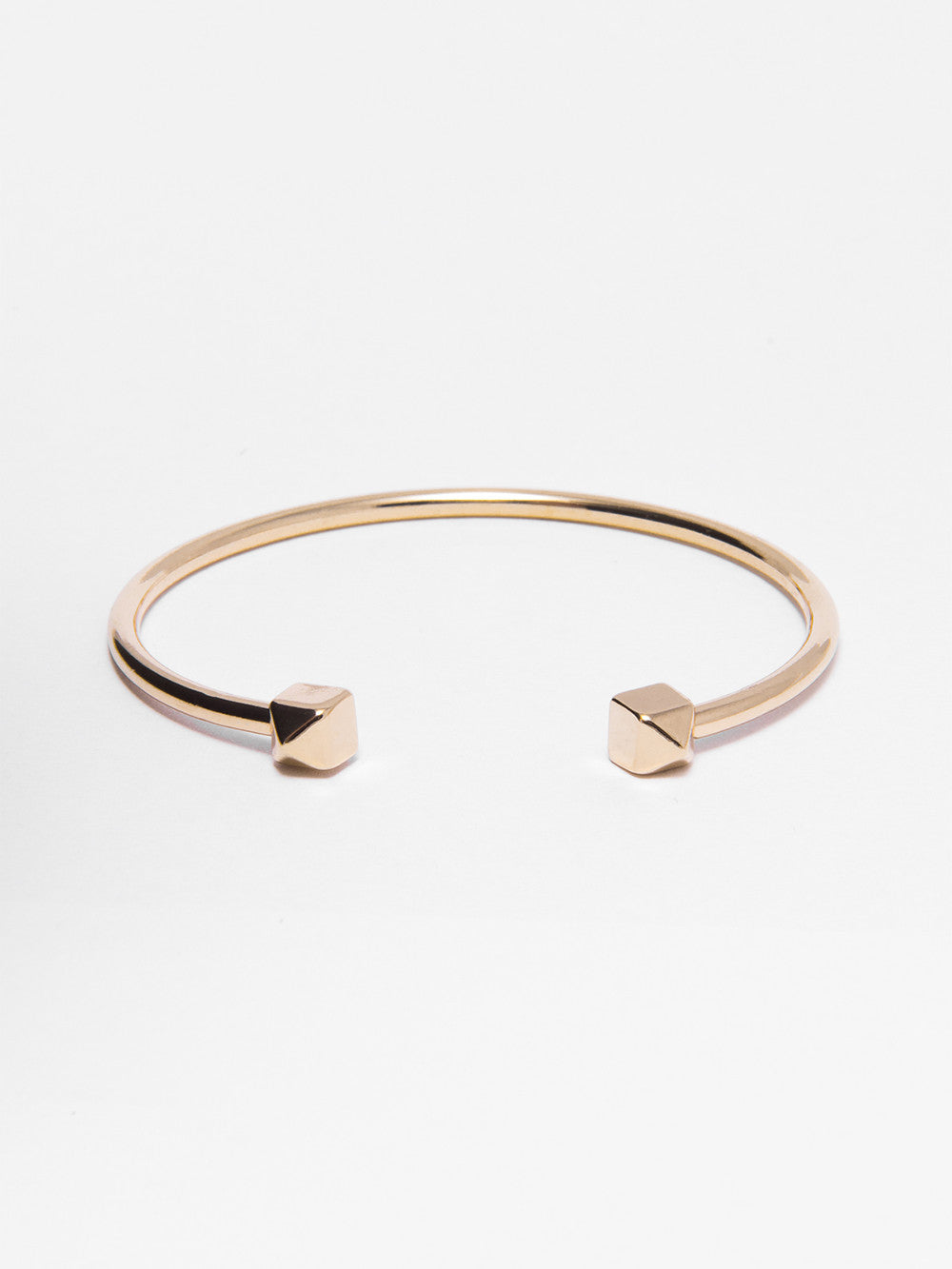 Gold Pyramid - Tipped Bangle