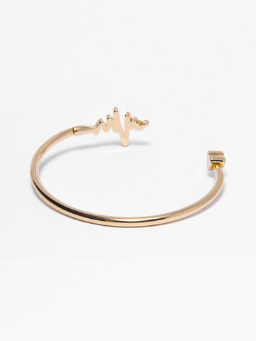 Gold Pulse Bangle