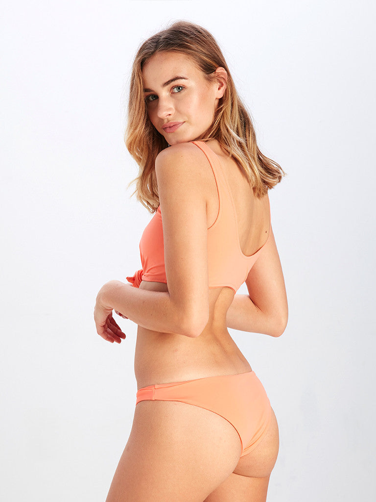 Veronique Brief Bikini Bottom - Peach