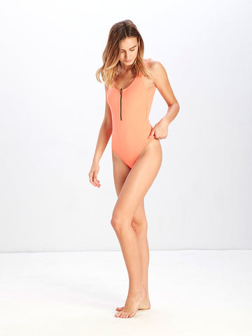 Sophia Zippered Reversible One Piece Swimsuit