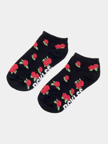 Roses Socks- Black