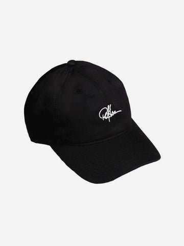 Signature Dad Hat- Black/White