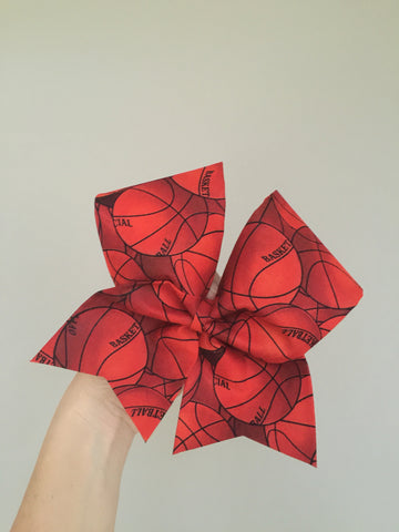 Basketball Fabric cheer bow