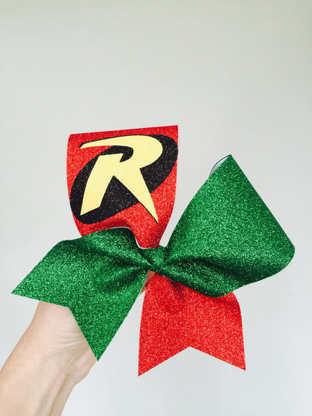 Total Glitter Deluxe ROBIN Superhero Cheer Bow Batman