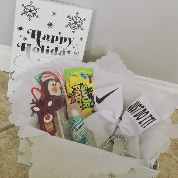 Cheer Bow Photo Box Gift Set Box with just Do It Nike swoosh Bow