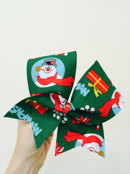 Frosty The Snowman Cheer Bow