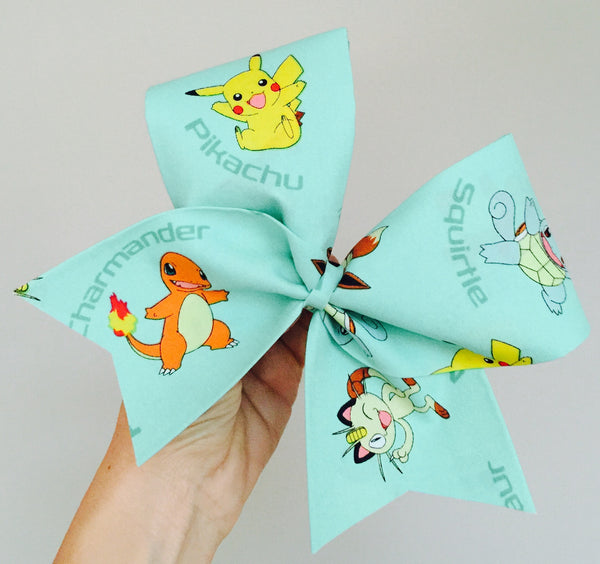Mint Poke Mon Character Cheer Bow pikachu pokemon