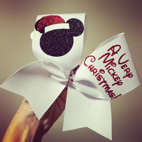 A Very Mickey Christmas Cheer bow