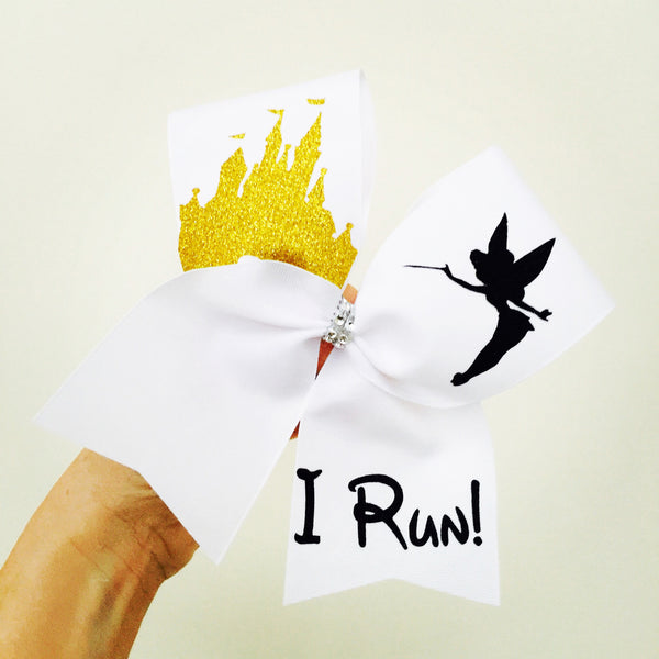 I RUN! Disney Castle Tinkerbell Bow