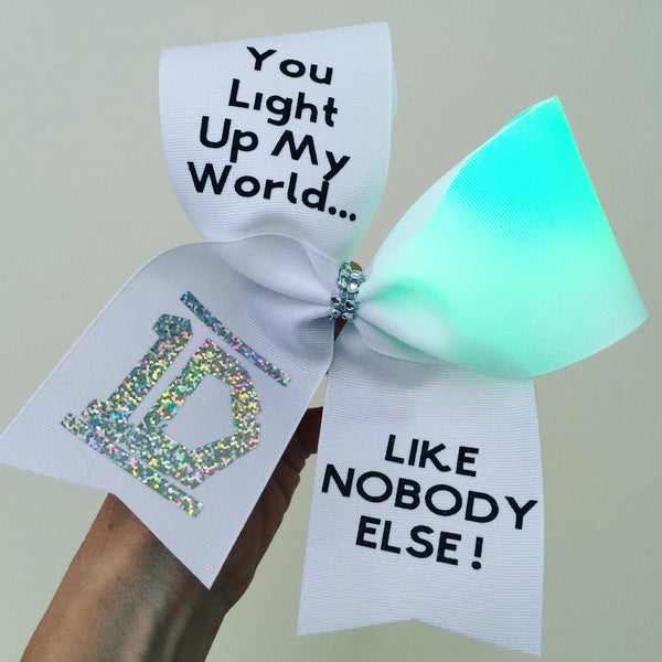 One Direction Light Up Color Changing Cheer Bow 1D rainbow lights