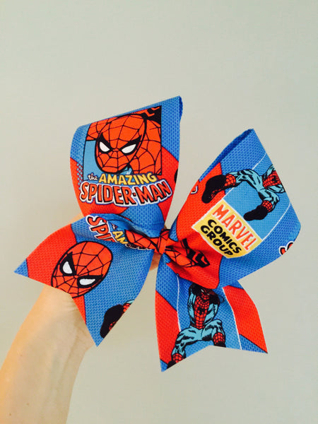 Spider-Man fabric cheer bow Spider Man comics