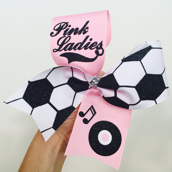 Custom Soccer Team Cheer Style Big Bows YOU CHOOSE LOGO AND WORDING AND COLORS