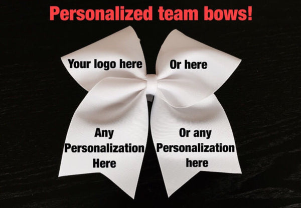 Personalized Team Cheer Bow For Team Orders Only