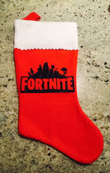 Fortnite felt Christmas Stocking can be personalized