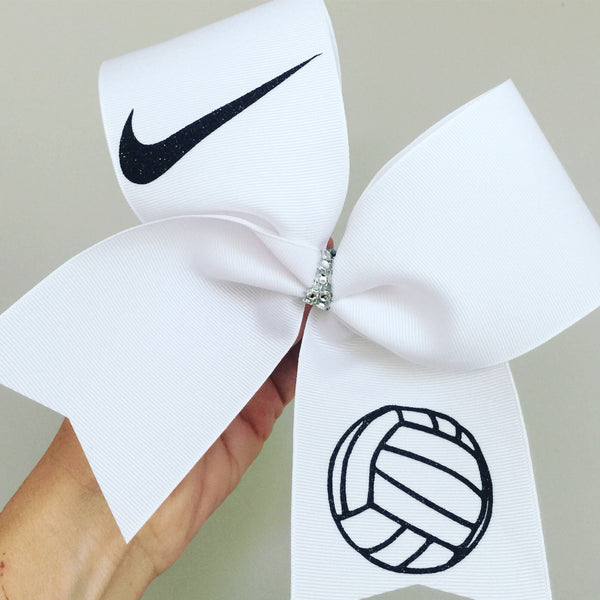 Big volleyball Nike swoosh Bow white and black